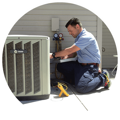 Person Fixing AC Image